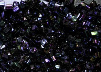 Best.Nr.:41091 Glasperlen / Stiftperlen in den 1950/60 Jahren in Gablonz/Böhmen hergestellt, gunpowder