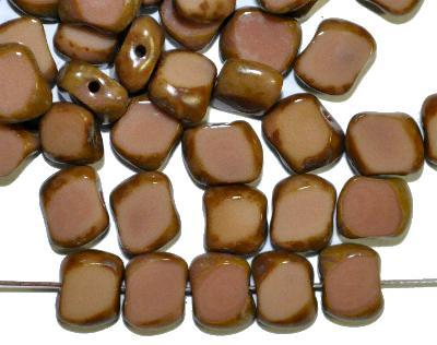 Best.Nr.:671253 Glasperlen / Table Cut Beads, geschliffen mit picasso finish