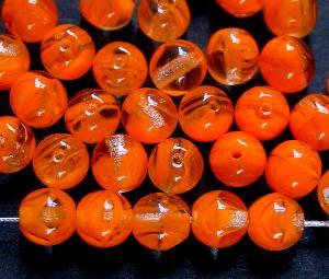 Best.Nr.:22127 Glasperlen rund orange kristall