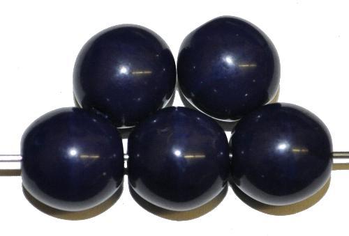 Best.Nr.:22155 Glasperlen rund,  nachtblau opak,  hergestellt in Gablonz / Tschechien