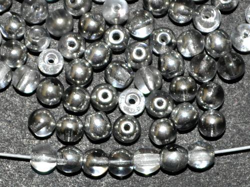 Best.Nr.:22188 Glasperlen rund  kristall silber,  hergestellt in Gablonz / Tschechie