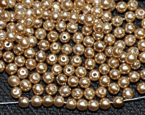Best.Nr.:22247  Glasperlen rund mit Wachsüberzug,  perlmuttglanz,  hergestellt in Gablonz / Tschechien
