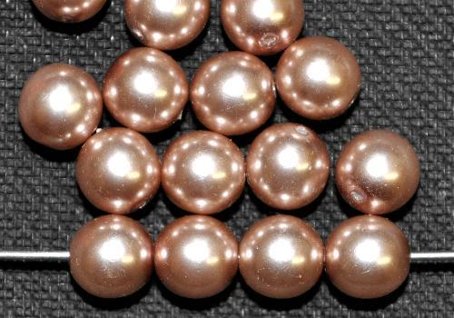 Best.Nr.:22271 Glasperlen rund mit Wachsüberzug,  perlmuttglanz,  hergestellt in Gablonz / Tschechien
