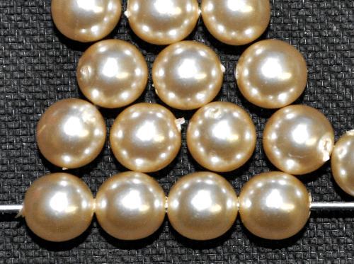 Best.Nr.:22278 Glasperlen rund mit Wachsüberzug,  perlmuttglanz,  hergestellt in Gablonz / Tschechien