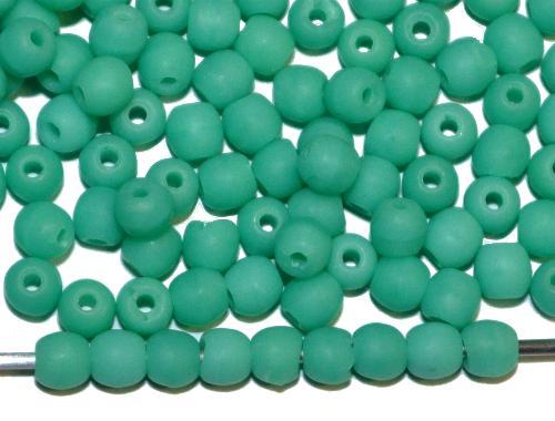 Best.Nr.:22281 Glasperlen rund  mint mattiert (frostet),  hergestellt in Gablonz / Tschechien