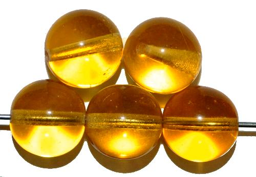 Best.Nr.:22282  Glasperlen rund,  topas reansp.,  hergestellt in Gablonz / Tschechien