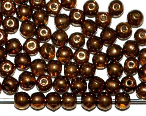 Best.Nr.:22311 Glasperlen rund  Bronzefarben,  hergestellt in Gablonz / Tschechie