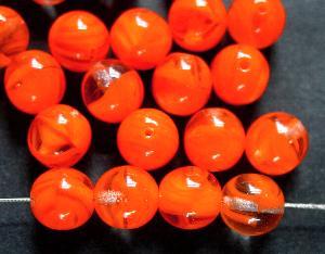 Best.Nr.:22407 Glasperlen rund orange kristall