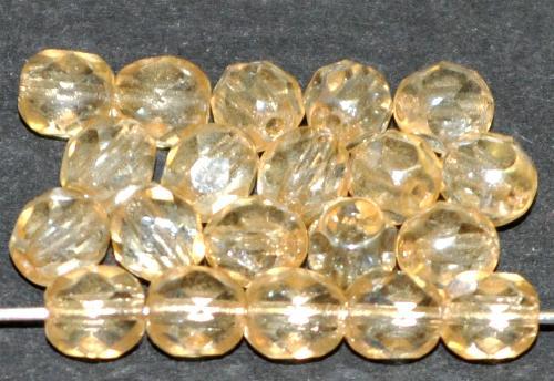 Best.Nr.:23003 facettierte Glasperlen champagner mit lüster, hergestellt in Gablonz / Tschechien