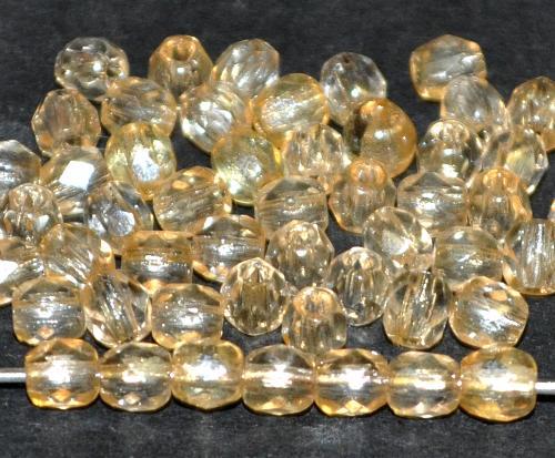 Best.Nr.:23010 facettierte Glasperlen  bedampft (lüster), hergestellt in Gablonz / Tschechien