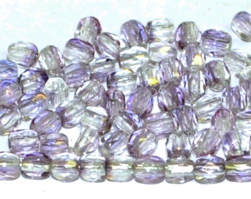 Best.Nr.:23030 facettierte Glasperlen violett mit Lüster, hergestellt in Gablonz / Tschechien