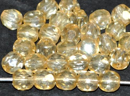 Best.Nr.:23053 facettierte Glasperlen champagner mit lüster, hergestellt in Gablonz / Tschechien