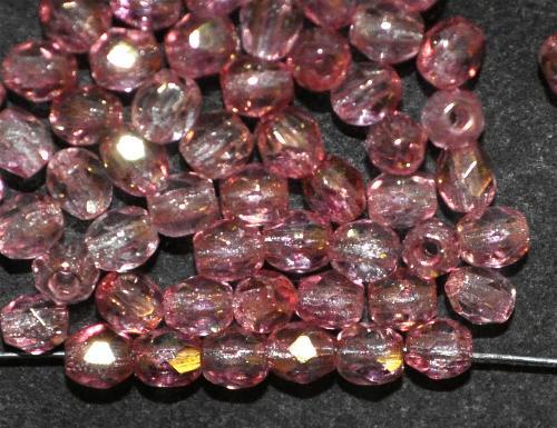 Best.Nr.:23068 facettierte Glasperlen  french violett bronziert,  hergestellt in Gablonz / Tschechien