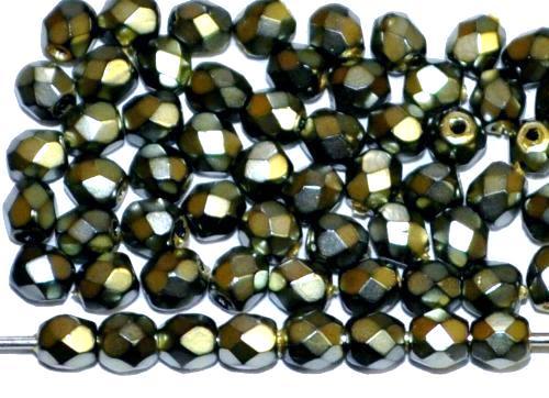 Best.Nr.:24020 facettiert Glasperlen mit Wachsüberzug metallic , hergestellt in Gablonz / Tschechien
