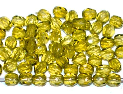 Best.Nr.:24027 facettiert Glasperlen mit Wachsüberzug olivgrün, hergestellt in Gablonz / Tschechien
