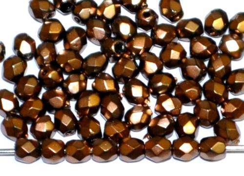 Best.Nr.:24029 facettiert Glasperlen mit Wachsüberzug metallic , hergestellt in Gablonz / Tschechien