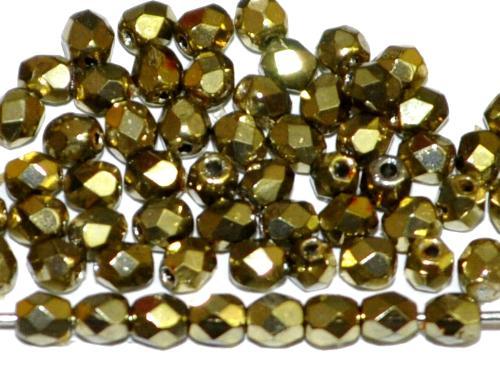 Best.Nr.:24033 facettiert Glasperlen mit Wachsüberzug metallic , hergestellt in Gablonz / Tschechien