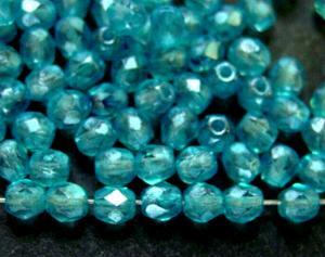 Best.Nr.:24058 facettierte Glasperlen mit Wachsüberzug aqua