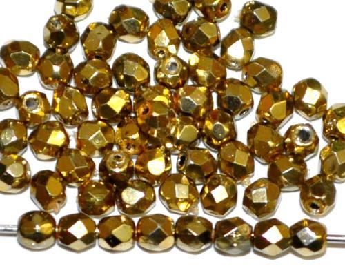 Best.Nr.:24074 facettiert Glasperlen mit Wachsüberzug metallic , hergestellt in Gablonz / Tschechien