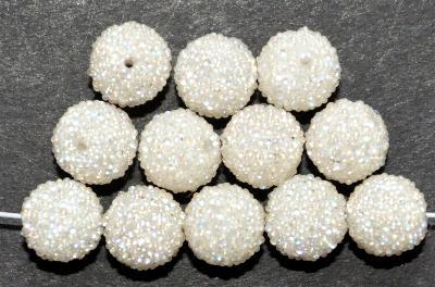 Best.Nr.:22333 Kunststoffperlen ummantelt mit glitzernden Glaskugeln (Ballotini),  1950/60 in Gablonz/Böhmen hergestellt