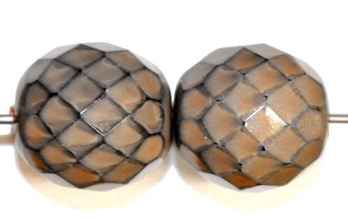Best.Nr.:24157 facettierte Glasperlen Wachsperlen  mit Wachsüberzug,  hergestellt in Gablonz / Tschechien