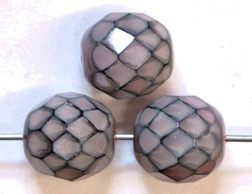 Best.Nr.:24161  facettierte Glasperlen Wachsperlen  mit Wachsüberzug,  hergestellt in Gablonz / Tschechien