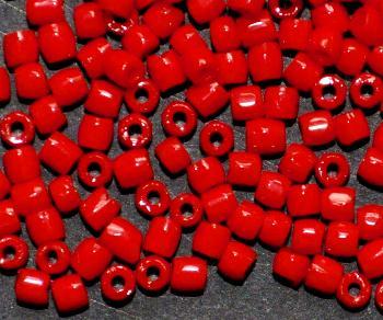 Best.Nr.:18013 3-Cutbeads von Ornella Preciosa Tschechien rot opak