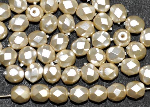 Best.Nr.:24188  facettiert Glasperlen mit Wachsüberzug  perlmutt,  hergestellt in Gablonz / Tschechien