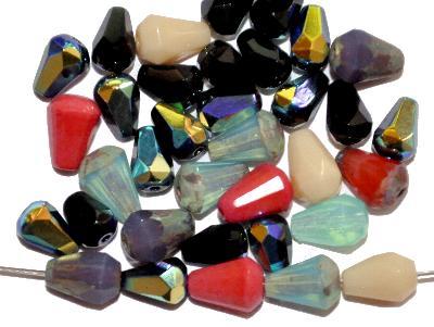 Best.Nr.:s-0015 geschliffene Glasperlen, hergestellt in Gablonz Tschechien, Farbmix so oder �hnlich