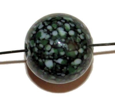 Best.Nr.:45207 Wickelglasperle rund, Einzelstück in den 1930/1940 Jahren in Gablonz/Böhmen von Hand gefertigt
