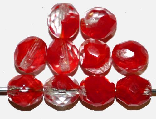 Best.Nr.:26162 facettierte Glasperlen kristall rot, hergestellt in Gablonz / Tschechien