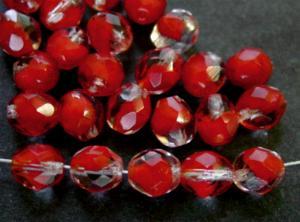 Best.Nr.:26162 facettierte Glasperlen kristall rot
