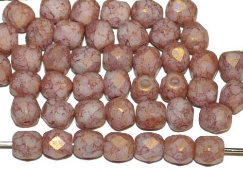 Best.Nr.:26272 facettierte Glasperlen violett stone finish mit bronze lüster, hergestellt in Gablonz / Tschechien