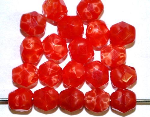 Best.Nr.:26277 facettierte Glasperlen  Perlettglas rot, hergestellt in Gablonz / Tschechien