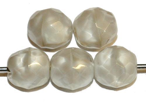 Best.Nr.:26307 facettierte Glasperlen Perlettglas silk, hergestellt in Gablonz / Tschechien