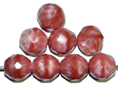 Best.Nr.:26355 facettierte Glasperlen  Perlettglas rosa,  hergestellt in Gablonz / Tschechien