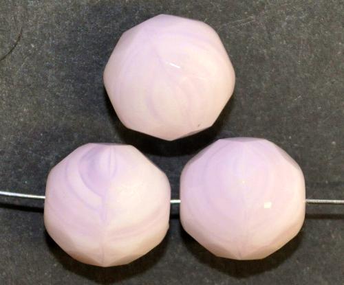 Best.Nr.:26384 facettierte Glasperlen,  zart rosa perlett,  hergestellt in Gablonz / Tschechien