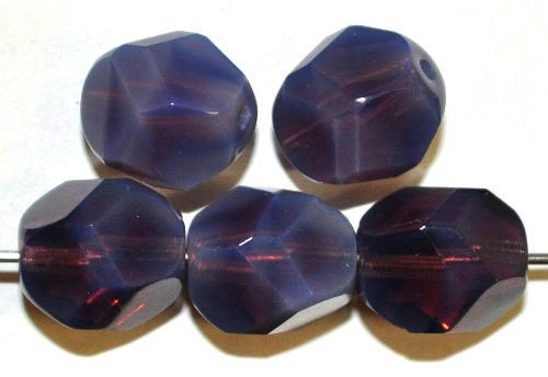 Best.Nr.:26418 geschliffene Glasperlen smokyviolett opal, hergestellt in Gablonz / Tschechien