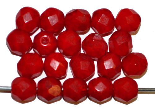 Best.Nr.:26427 facettierte Glasperlen  dunkelrot,  hergestellt in Gablonz / Tschechien