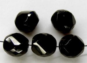 Best.Nr.:26428 geschliffene Glasperlen schwarz