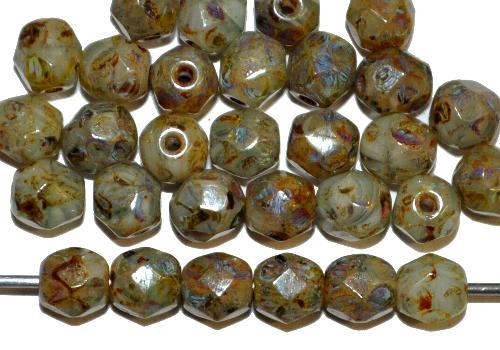 Best.Nr.:26431 facettierte Glasperlen,  picasso finish,  hergestellt in Gablonz / Tschechien