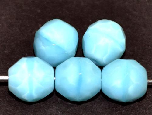 Best.Nr.:26531 Glasperlen mit Facettenschliff,  Perlettglas hellblau, hergestellt in Gablonz / Tschechien
