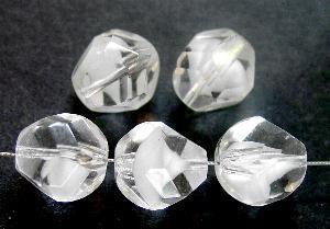 Best.Nr.:26541 geschliffene Glasperlen kristall mit weißen Einschluss