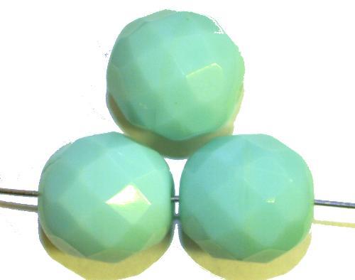 Best.Nr.:26544 facettierte Glasperlen,  mint opak,  hergestellt in Gablonz / Tschechien