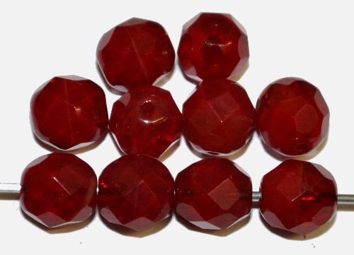 Best.Nr.:26551 facettierte Glasperlen  rot,  hergestellt in Gablonz / Tschechien