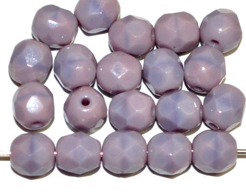 Best.Nr.:26608 facettierte Glasperlen violett opak, hergestellt in Gablonz / Tschechien