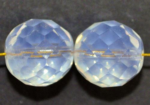 Best.Nr.:26631  facettierte Glasperlen,  milky opal,  hergestellt in Gablonz / Tschechien
