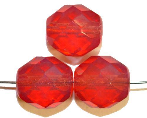 Best.Nr.:26637  facettierte Glasperlen,  Opalglas,  hergestellt in Gablonz / Tschechien