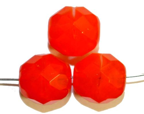 Best.Nr.:26638 facettierte Glasperlen  alabaster orange,  hergestellt in Gablonz / Tschechien