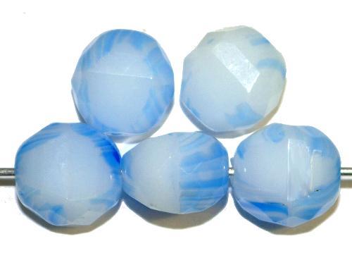 Best.Nr.:26645 geschliffene Glasperlen   Multi Cut Beads   Perlettglas orange,  hergestellt in Gablonz / Tschechien
